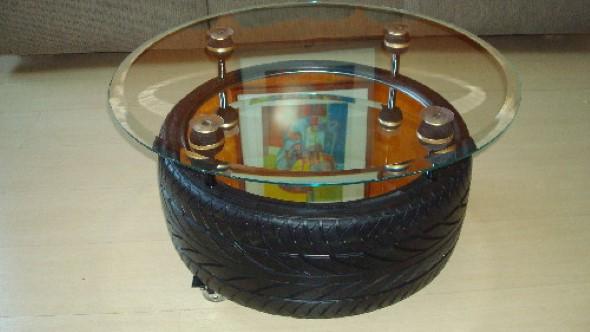 Artesanato com pneus – Reciclando com arte 011