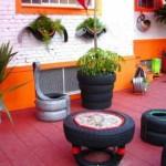 Artesanato com pneus – Reciclando com arte