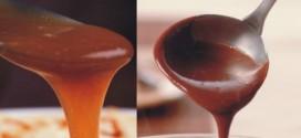 Receita de calda de caramelo e calda de chocolate
