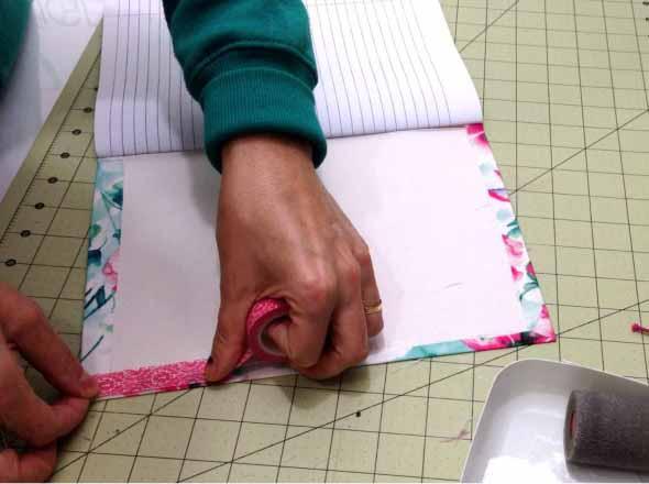 Como encapar caderno para volta às aulas 001
