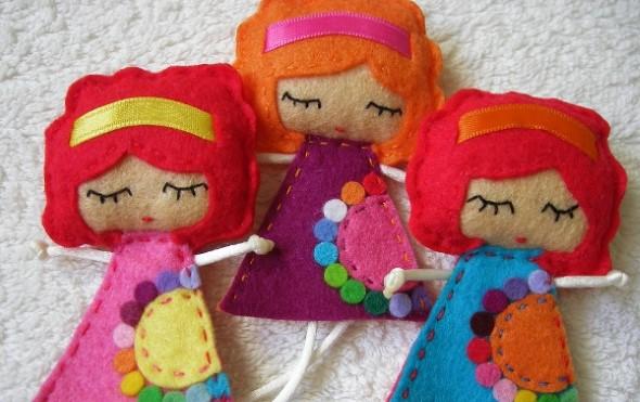 Como fazer boneca de feltro 001