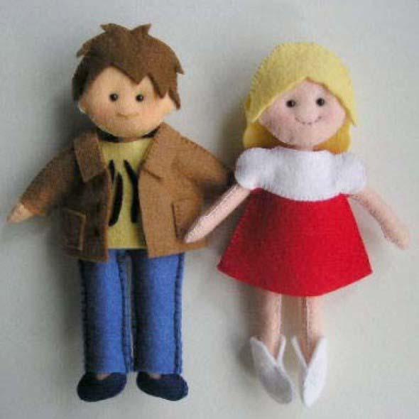 Como fazer boneca de feltro 003