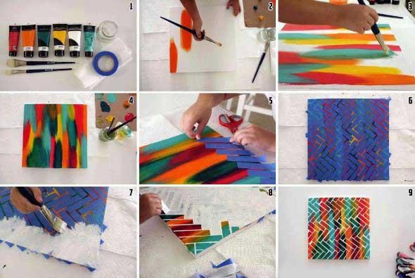 Como fazer quadros artesanais criativos 004