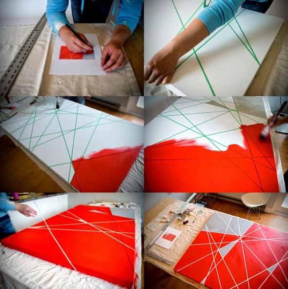 Como fazer quadros artesanais criativos 011