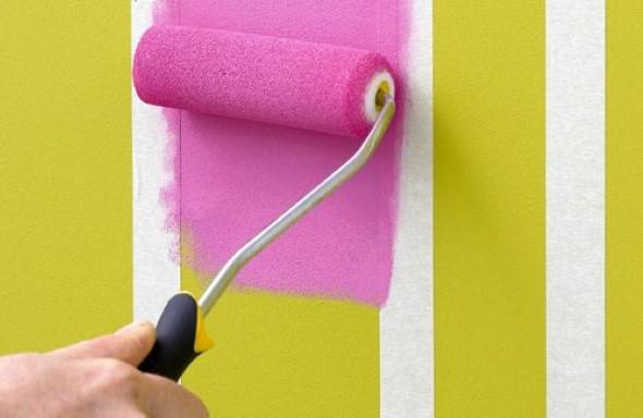 Dicas para pintar listras nas paredes de sua casa 001