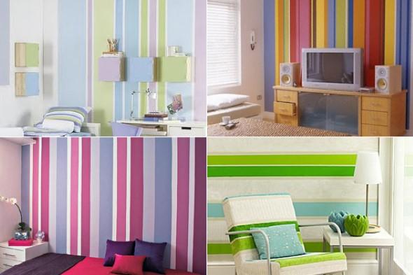 dicas para pintar listras nas paredes de sua casa