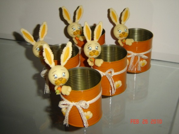 Coelhinhos da páscoa em biscuit 013