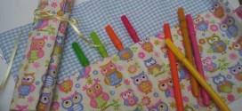 Como fazer bolsinha porta lápis em tecido