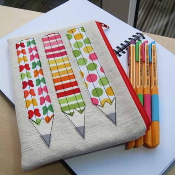 Como fazer bolsinha porta lápis em tecido 003