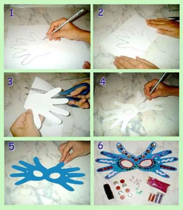 Como Fazer Mascara de Papel Passo a Passo images