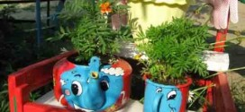 Faça reciclagem criativa para enfeitar o jardim