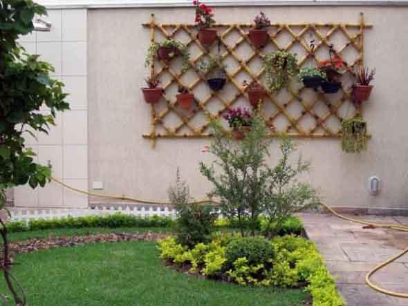de bambus e madeiras, e que vão deixar seu jardim e toda sua casa