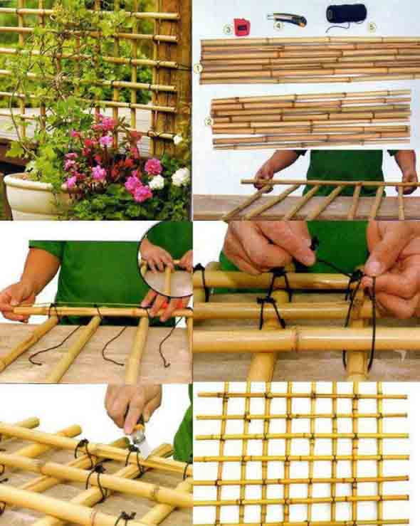 Treliças para enfeitar o jardim 010
