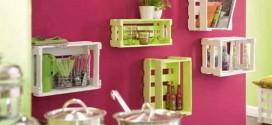 Como fazer nichos com caixote de feira