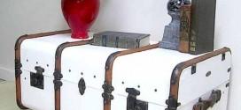 Artesanato com malas e baús antigos