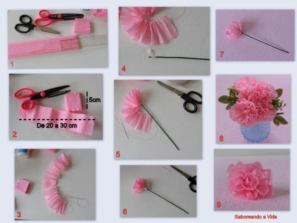 Flores artesanais para o Dia das Mães 012