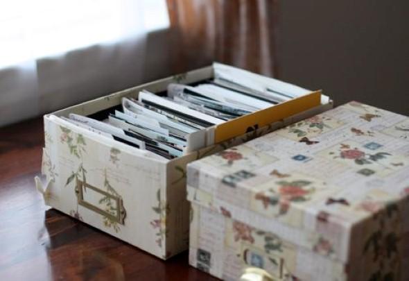 Ideias para reciclar caixas de sapato 002