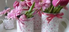 Diferentes tipos de vasos artesanais
