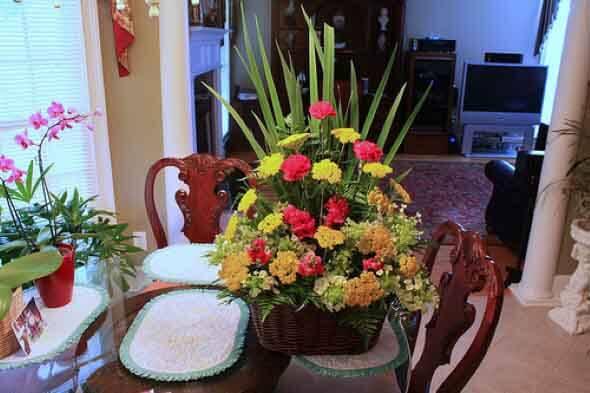 Como fazer arranjo de flores 009