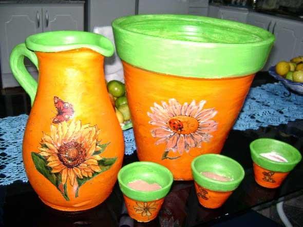 Dicas de artesanato com vasos de barro 009