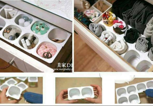 Recicle potes de iogurte em casa 001
