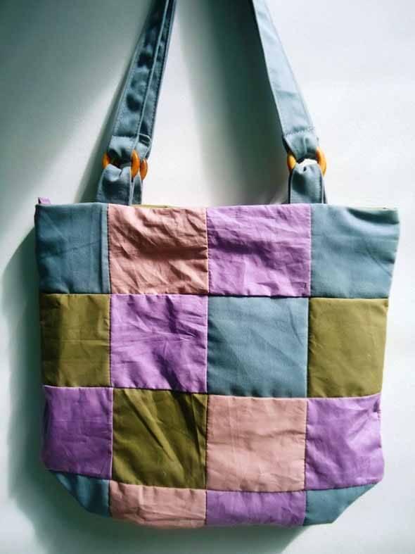Bolsa de retalhos artesanal 003