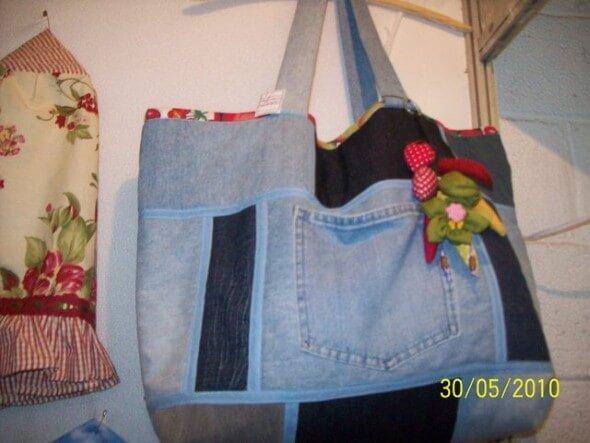 Bolsa de retalhos artesanal 004