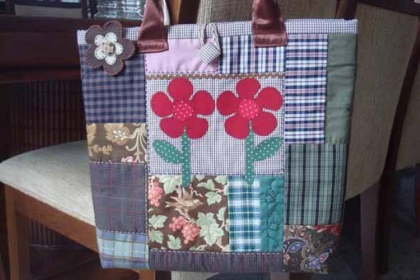 Bolsa de retalhos artesanal 011