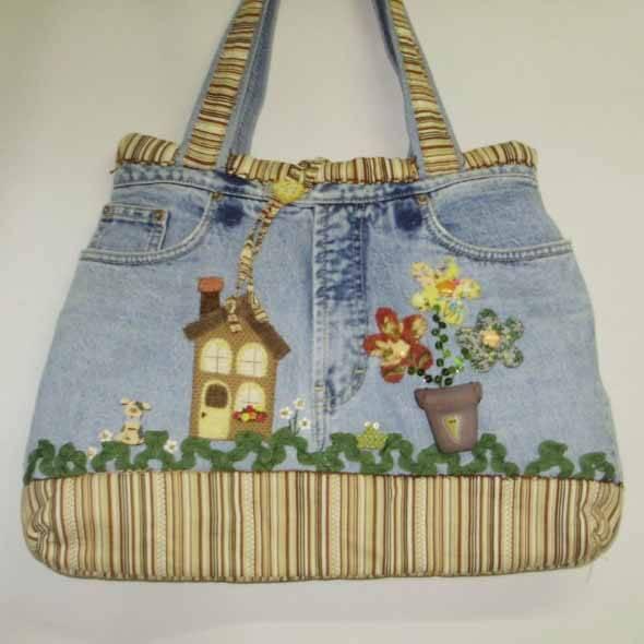 Bolsa de retalhos artesanal 012