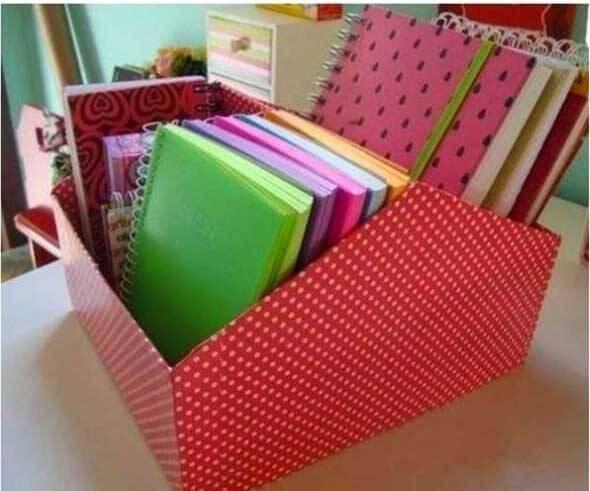 Como fazer uma caixa organizadora 012