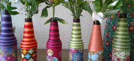 18 Formas criativas de artesanato com garrafas de vidro