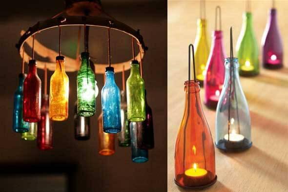 18 Formas criativas de artesanato com garrafas de vidro 010