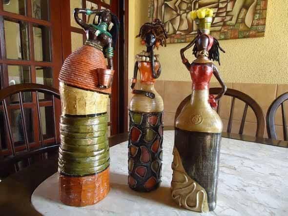 18 Formas criativas de artesanato com garrafas de vidro 012