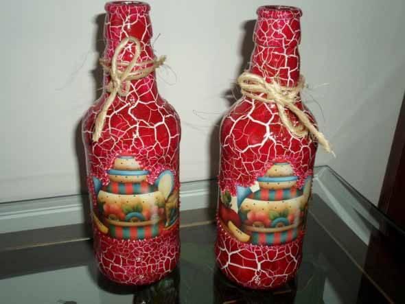 18 Formas criativas de artesanato com garrafas de vidro 018
