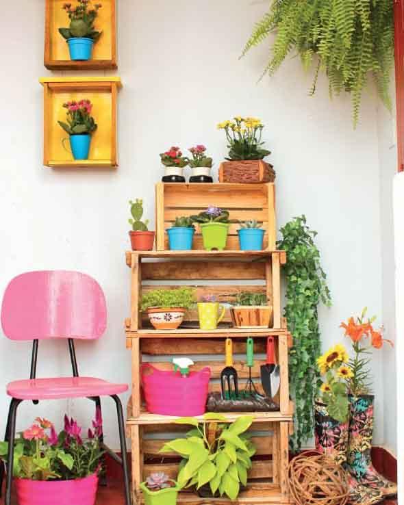Aprenda a fazer móveis com caixote de feira 011