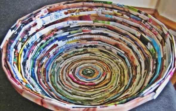 Como reciclar revistas antigas 010
