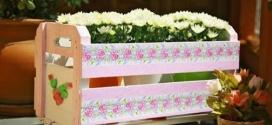 Caixotes de feira no jardim – Enfeite o seu