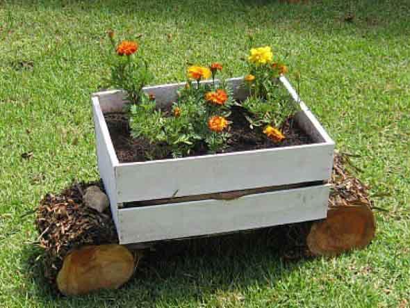 artesanato para jardim em madeira