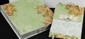 Como decorar caixas MDF com papel