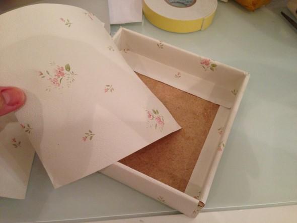 Como decorar caixas MDF com papel 013