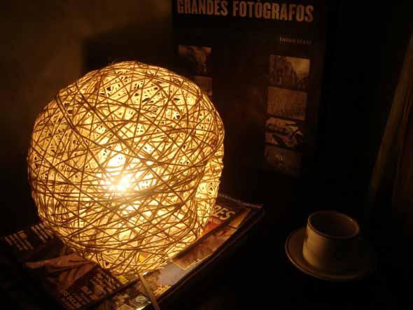 Luminária de barbante 003