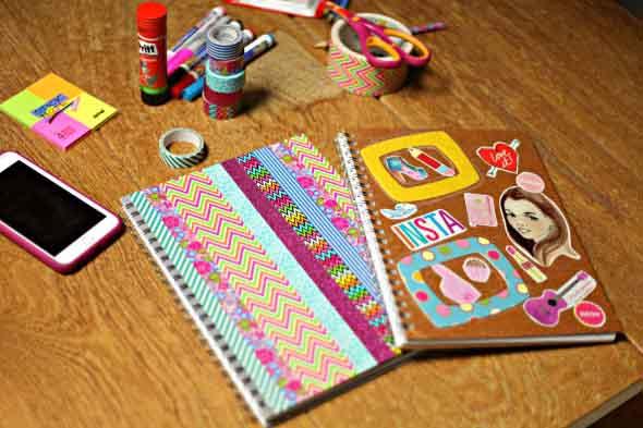 Como decorar seu caderno escolar 006