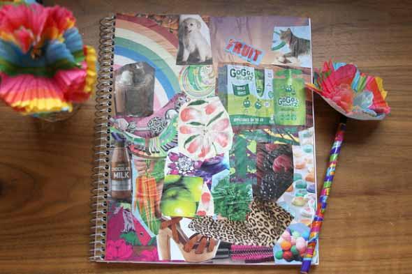 Como decorar seu caderno escolar 008
