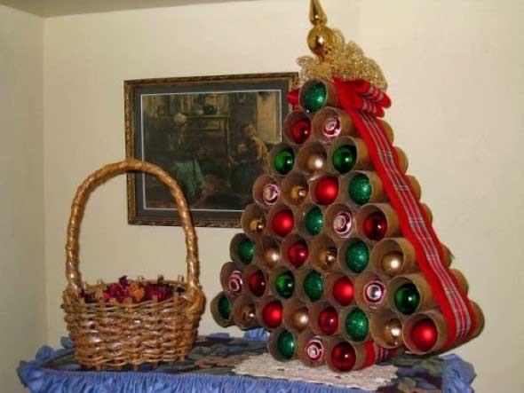 Enfeites de Natal com canos de PVC 006