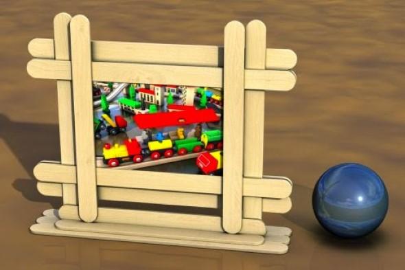 Ideias criativas com palitos de picolé 012