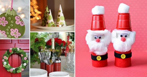 ideias de enfeites de Natal artesanais 001