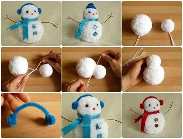 ideias de enfeites de Natal artesanais 012