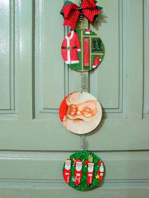 ideias de enfeites de Natal artesanais 015