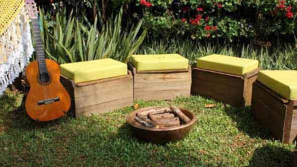 Artesanato rústico para seu jardim 003