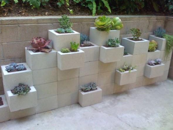 Artesanato rústico para seu jardim 010